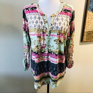Style & Co bohemian tunic blouse